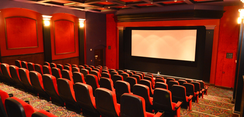 Watch movies or sports games in our huge movie theater