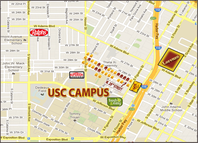 90007 Zip Code Map.Lorenzo Location Usc Student Housing