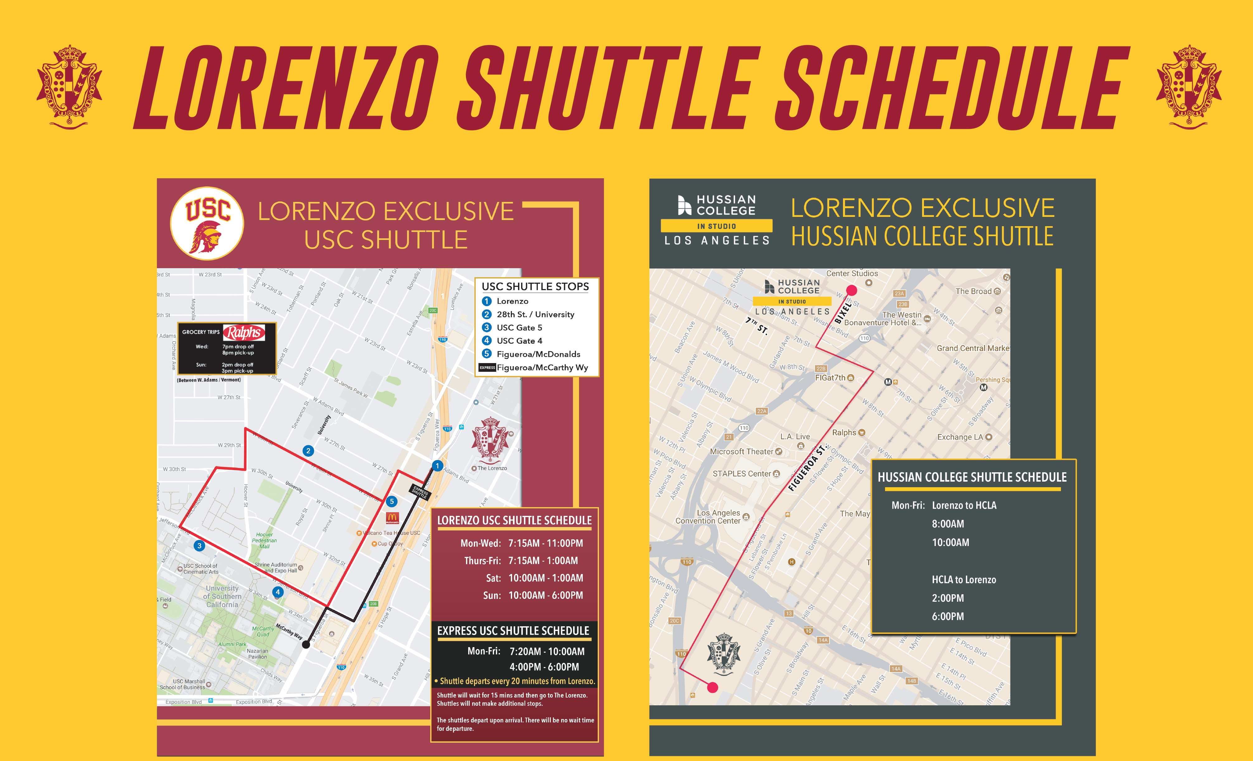 Lorenzo Daily Private Shuttle Route thumbnail