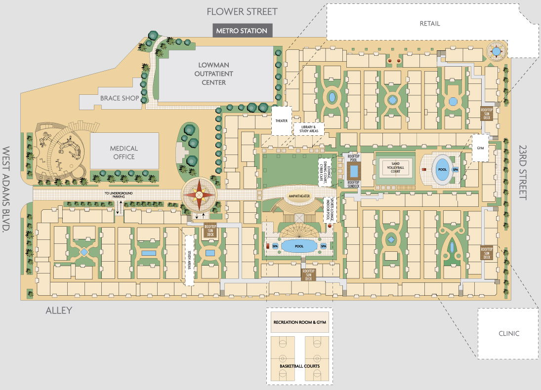 Lorenzo rates and floor plans usc housing apartments for Apartment site plan