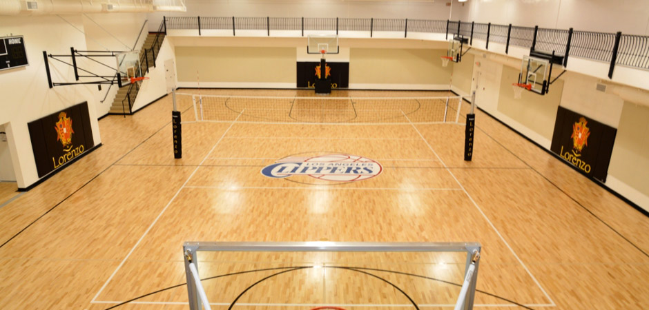 Enjoy Two Professional Size Indoor Basketball Courts
